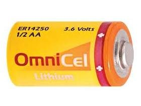 Omnicel 3.6 Volt 12 AA 1200 mAh LS14250 and ER14250 Primary Lithium Battery