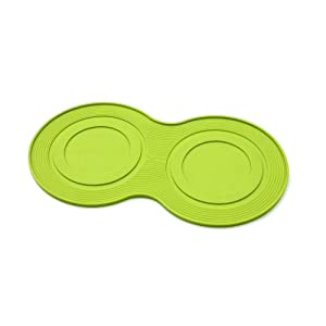 petprojekt Large Dogmat, Dog Bowl Mat, Green