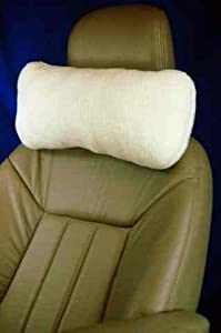 Fleece Car Neck Support Pillow,18 in., With Headrest Strap