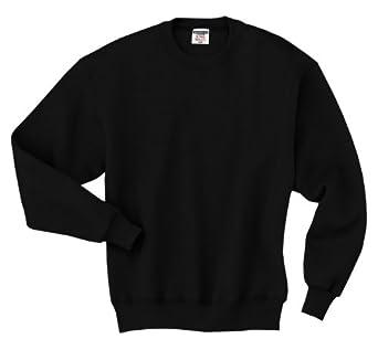 Jerzees 9.5 oz. Super Sweats 50/50 Crew, Black, 3X-Large