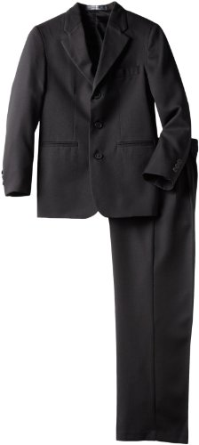 Perry Ellis Big Boys' Dresswear Suit, Black, 16
