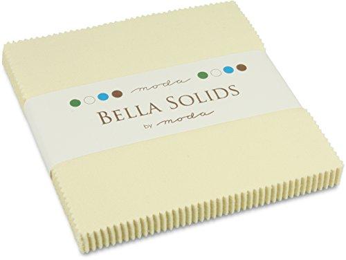 Moda Basics Bella Solids Snow 9900 11 Charm Pack Set Of 42 5 Inch