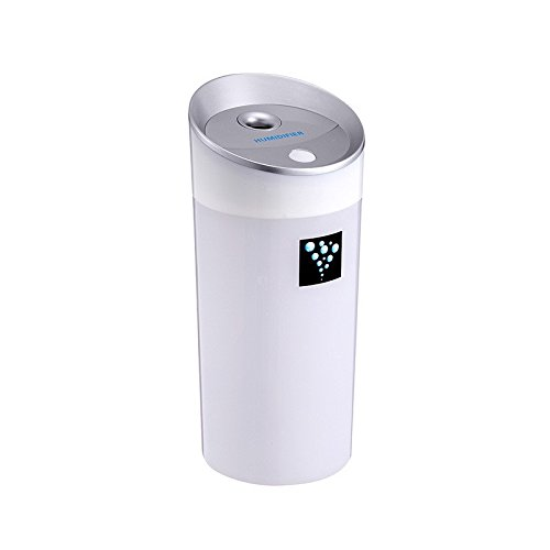 Led Aroma Diffuser Ultrasonic Humidifier USB 5V 2W 4Colors 300ML Ultrasonic Mist Maker Fogger Car Diffuser Aromatherapy For Car (White) (Waterfall Humidifier compare prices)