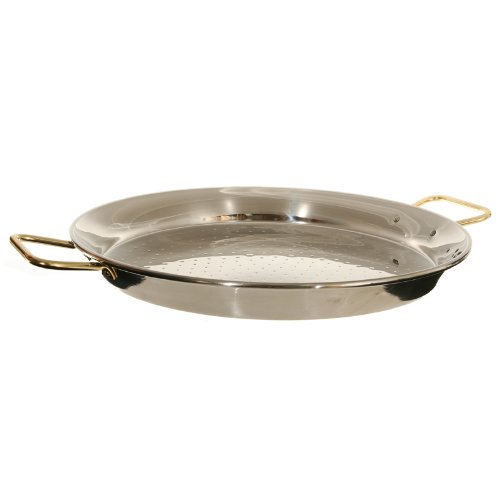Garcima 20-Inch Stainless Steel Paella Pan, 50cm