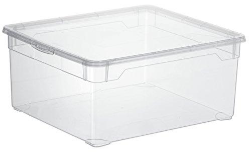 Aufbewahrungsbox-Clear-Box-Sweater-18-L-von-Rotho-mit-Deckel-QR-Code-AppMyBox-18-L-Volumen-LxBxH-40x335x17-cm-transparent-stapelbar-KunststoffPlastik-PP-Div-Gren