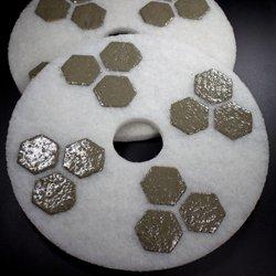 17 inch honeycomb diamond floor polishing pad polishing for 17 floor buffer pads