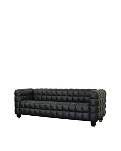 Baxton Studio Arriga Leather Sofa, Black