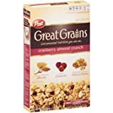 Post Great Grains Cranberry Almond Crunch Whole Grain Cereal 14 oz