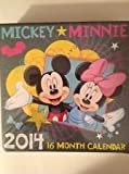 Disney Mickey * Minnie & Friends 16 Month 2014 Square Wall Calendar