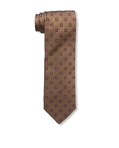 Ermenegildo Zegna Men's Patterned Silk Tie, Brown