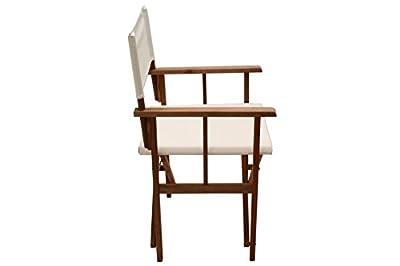 Regiestuhl Safari Sessel Klappstuhl Holz ecru uni Stuhl von GD-World bei Gartenmöbel von Du und Dein Garten