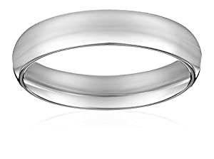 Men's Platinum Comfort-Fit Plain Wedding Band , Size 11