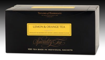 Taylors of Harrogate Lemon Orange Tea - String and Tag 100ct.