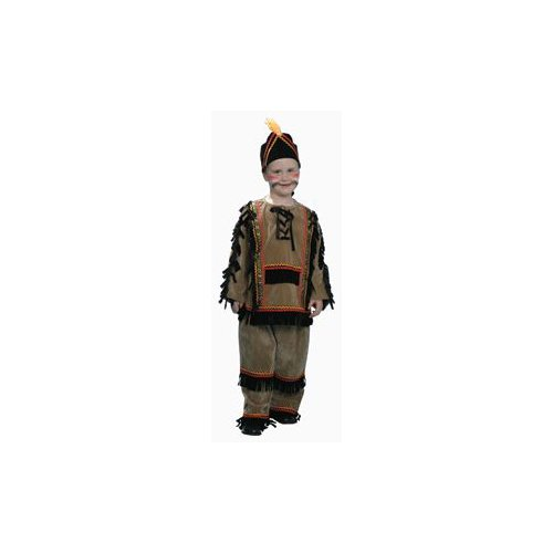Pretend Indian Boy Toddler Costume Dress-Up Set Size 4T