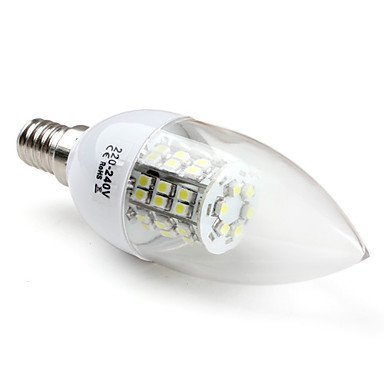 E14 Smd 3528 48Led 200Lm 2.8W Natural White Candle Bulbs (220-240V)