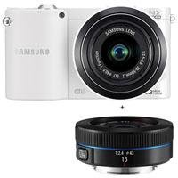 31DenYGvuaL Samsung NX1000 Smart Wi Fi Digital Camera Body & 20 50mm & 16mm f/2.4 Lens (White)