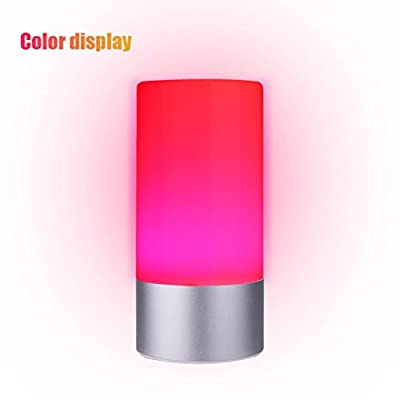 Alizzee Bedside Lamp Touch Atmosphere Lamp Sensor Table Lamp Aluminum Base Touch Lamps Dimmable Bedside Lamp LED Table Lamp, Touch Sensitive Control Panel LED Lights Changing for Home Office Baby