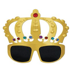 Jeweled Crown Fanci-Frames Party Accessory (1 count) (1/Pkg)