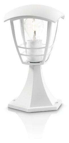 Philips Creek Lampione Palo da Esterno in Alluminio, Bianco, 30 cm