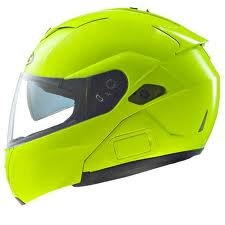 HJC Hi-Viz Men's Sy-Max III Street Racing Motorcycle Helmet – Hi-Visibility Yellow / Medium