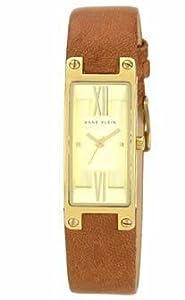 AK Anne Klein Women's AK-1138CHHY Brown Leather Band Watch