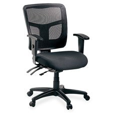 "Lorell  Managerial Mid-Back Chair,25-1/4""x23-1/2""x35""-41-3/10"",BK"