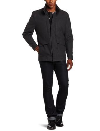 IZOD Men's Quilted Coat 反季特卖 男式羊毛外套 $38.74