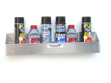 Pit Posse 566 6 Mount Aerosal Shelf Aluminum Holder Storage Shop Cabinet Race Car Enclosed Trailer (Aerosol Can Rack compare prices)
