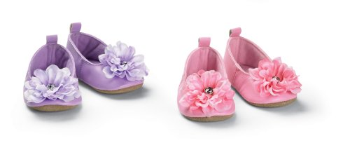 Mud Pie Baby Buds Ballet Slippers, Pink