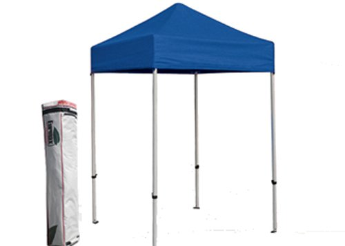 Basic 5X5 Ez Pop Up Canopy Tent Entry Commercial Level(Blue) front-1048781
