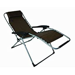 Mac Sports XL Anti-Gravity Lounger | Multiple Reclining Positions, Brown