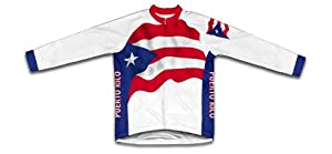 Buy Puerto Rico Flag Long Sleeve Cycling Jersey for Men by ScudoPro