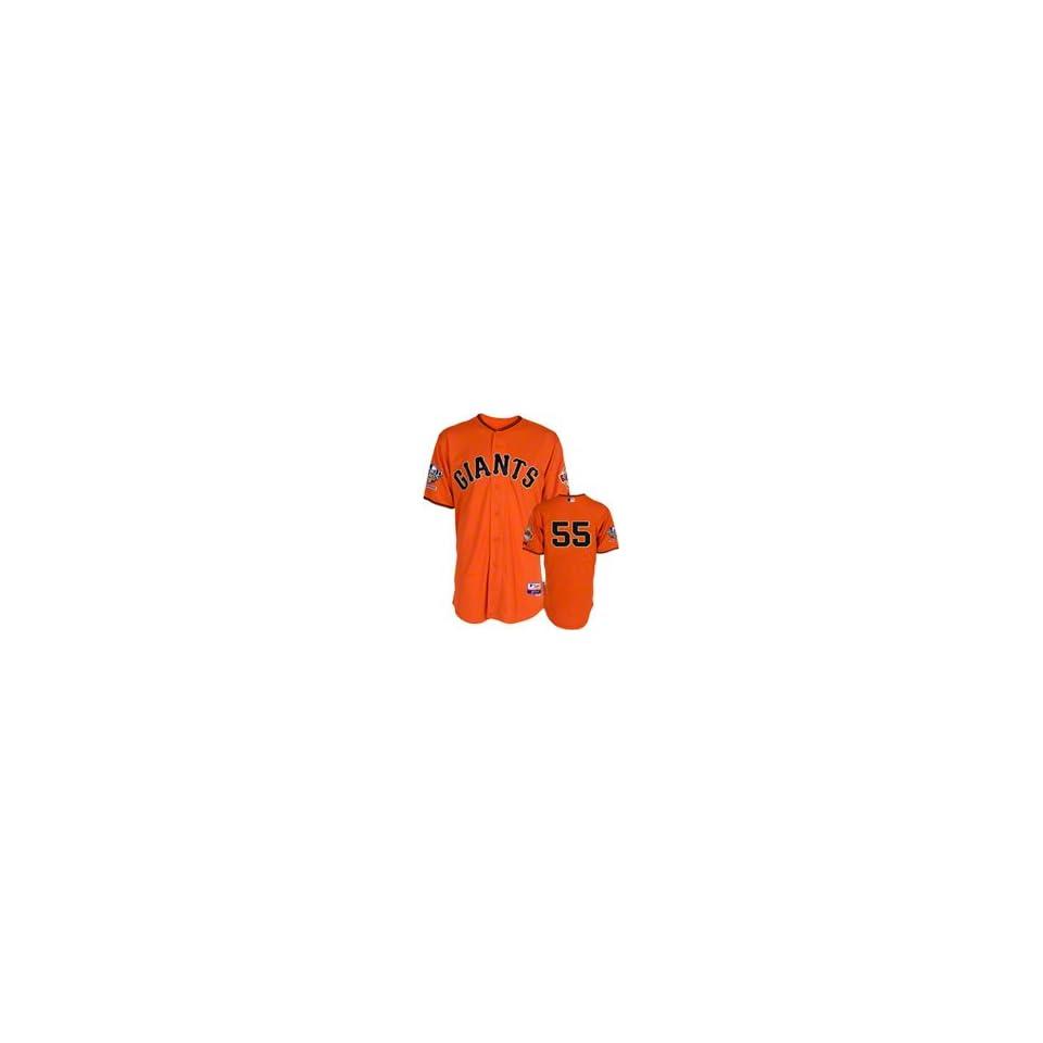Tim Lincecum Orange Giants Jersey World Series 2010 Fall Classic (LARGE) Mens