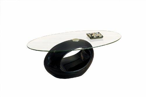 50100110 Couchtisch schwarz hochglanz Glastisch Wohnzimmertisch Wohnzimmer Tisch modern