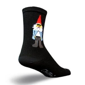 SockGuy Crew 6in Gnomies Cycling/Running Socks (L/XL)
