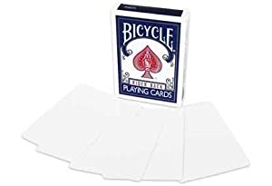 Double Blank Face & Back Magic Playing Cards