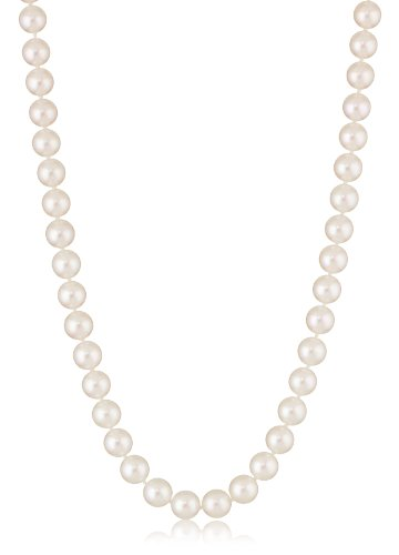18K White Gold Akoya Cultured Pearl Necklace (7.5-8Mm), 18""