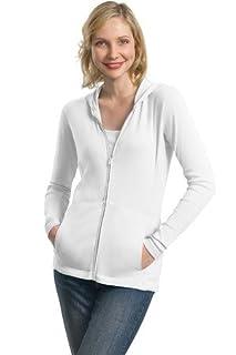 Port Authority Ladies Modern Stretch Cotton Full-Zip Jacket, white, Large