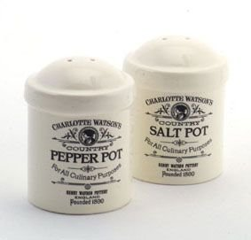 Charlotte Watson Cruet Set Salt & Pepper