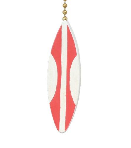 Fun Coastal Surfer Dude Surfboard Ceiling Fan Light Pull