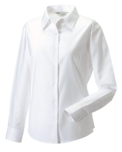 russell-collection-ladies-womens-long-sleeve-easy-care-oxford-shirt-l-white