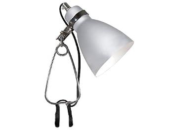 Nordlux Cyclone metallic clamp reading lamp (73072029, silver, aluminium)