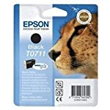Epson T0711 Cartouche d&#39;encre d&#39;origine DURABrite Ultra noire pour D78 D92 DX4050 4450 5050 6050 7000Fpar Epson