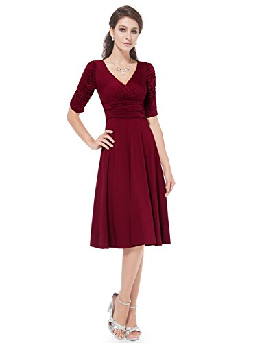 Ever-Pretty-34-Sleeve-Ruched-Waist-Classy-V-Neck-Casual-Cocktail-Dress-03632