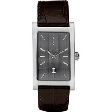 DKNY NY1475 Mens Dress Grey Brown Watch