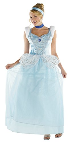 Disguise Womens Princess Cinderella Deluxe Disney Theme Party Halloween Costume
