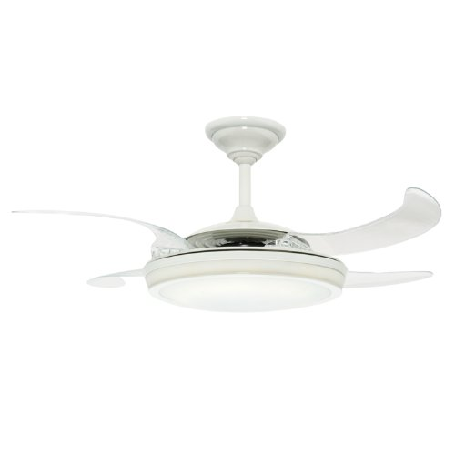 Hunter 21427 Fanaway 48-Inch Ceiling Fan, White with Clear Retractable Blades (Retractable Blade Ceiling Fan compare prices)