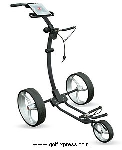 Masters Golf iCart Zero - 3 Wheel Push Trolley - Black