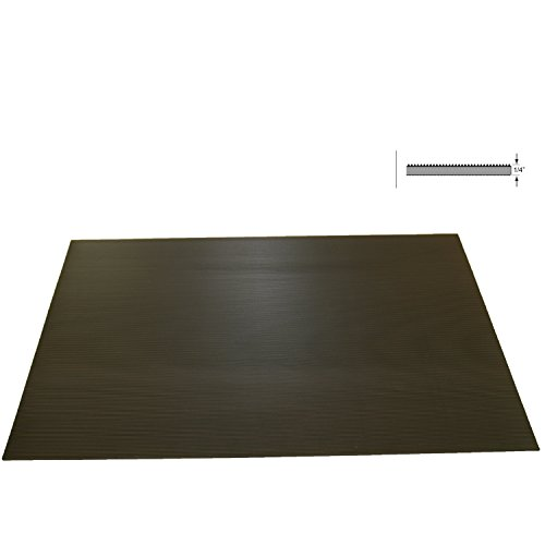 Rhino Mats SB424-2436 Corrugated Rubber Insulating Switchboard Mat, 2' Width x 3' Length x 1/4