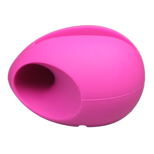 Niceeshop(Tm) Hot Pink Egg Shaped Silicon Stand Amplifier For Iphone 5 5S With Accessory Cable Tie